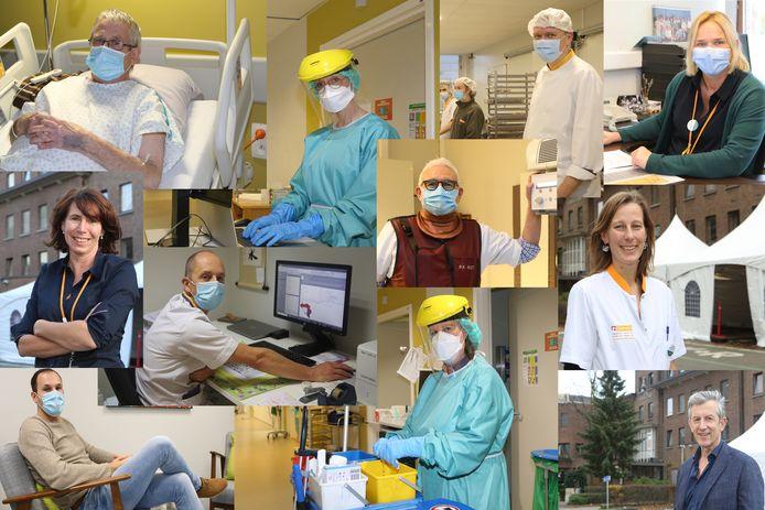Deze mensen van het ziekenhuis van Tienen cijferen zich dagelijks weg voor de patiënten.