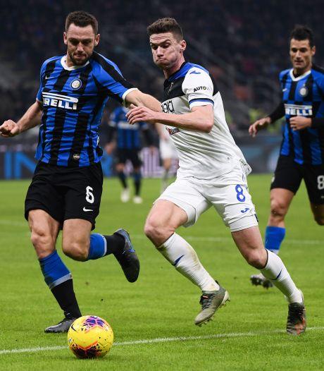 Atalanta pakt punt bij Internazionale dankzij zesde goal Gosens