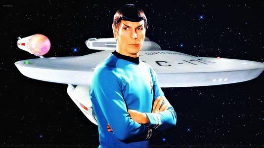 Leonard Nimoy, dans son rôle de Mr Spock, en 1966.