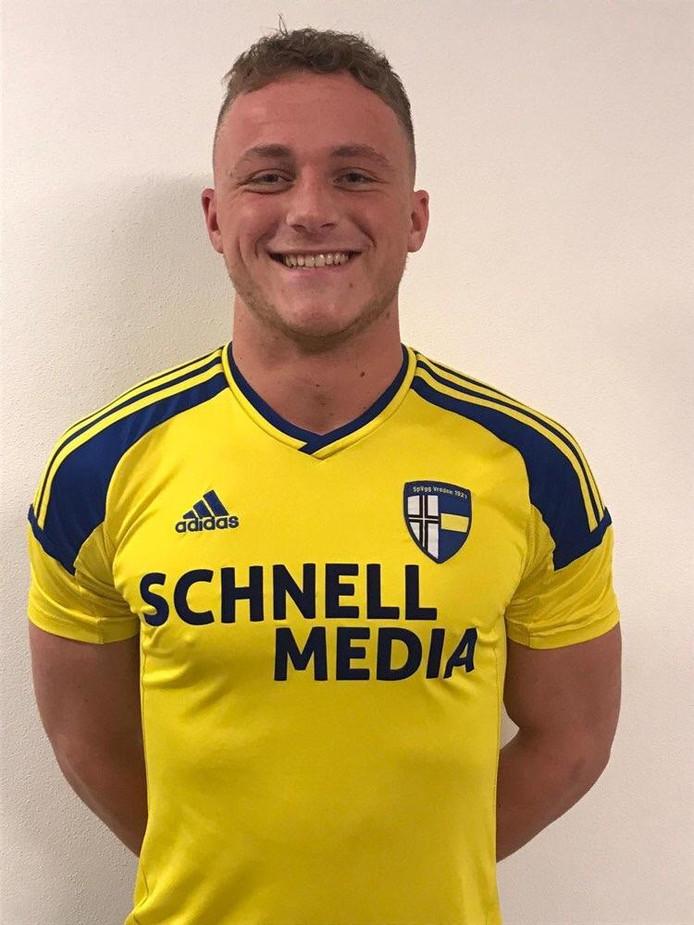 Jari Hellegers in het shirt van z'n nieuwe club SpVgg Vreden