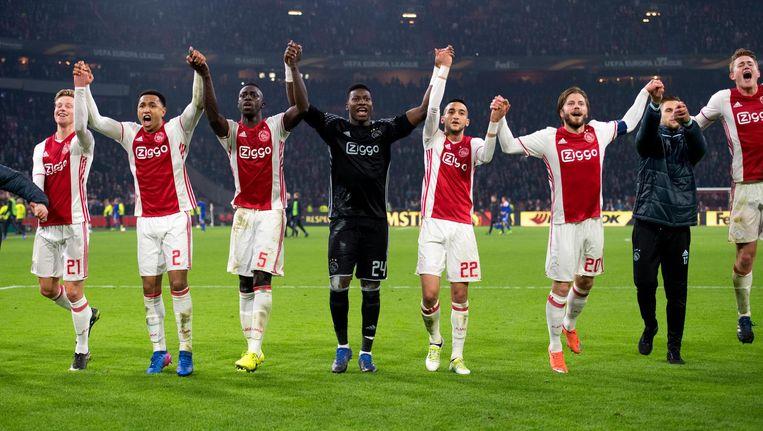 Ajax won donderdagavond met 2-0 in de Europa League tegen FC Kopenhagen. Beeld ANP