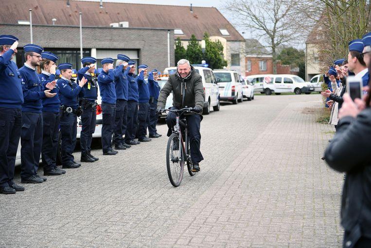 Wijkinspecteur Paul Reymenants uit Haacht gaat met pensioen.