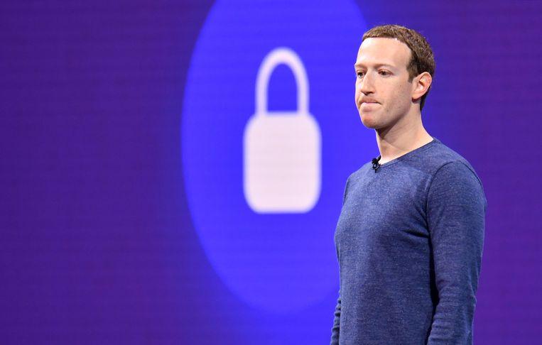 Mark Zuckerberg op de jaarlijkse Facebookconventie F8