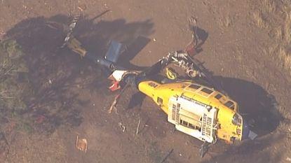 Helikopter crasht tijdens blussen bosbrand: piloot leeft nog