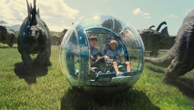 Een scène uit Jurassic World. Beeld null