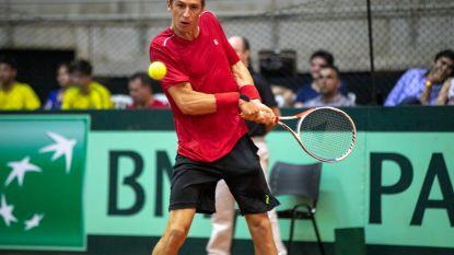België en Brazilië houden elkaar na één dag in bedwang in Davis Cup: sterke Coppejans wist in race naar finaleweek verlies De Greef uit