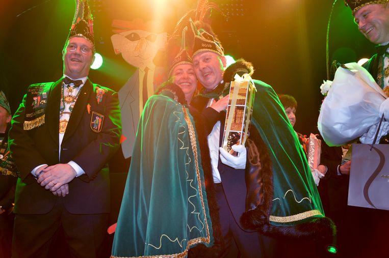 Dario, prins carnaval Ninove 2019, met prins Chena, de vorige prins carnaval.
