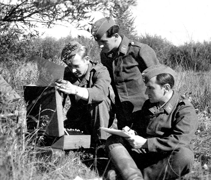 De Enigma in het veld gebruikt.