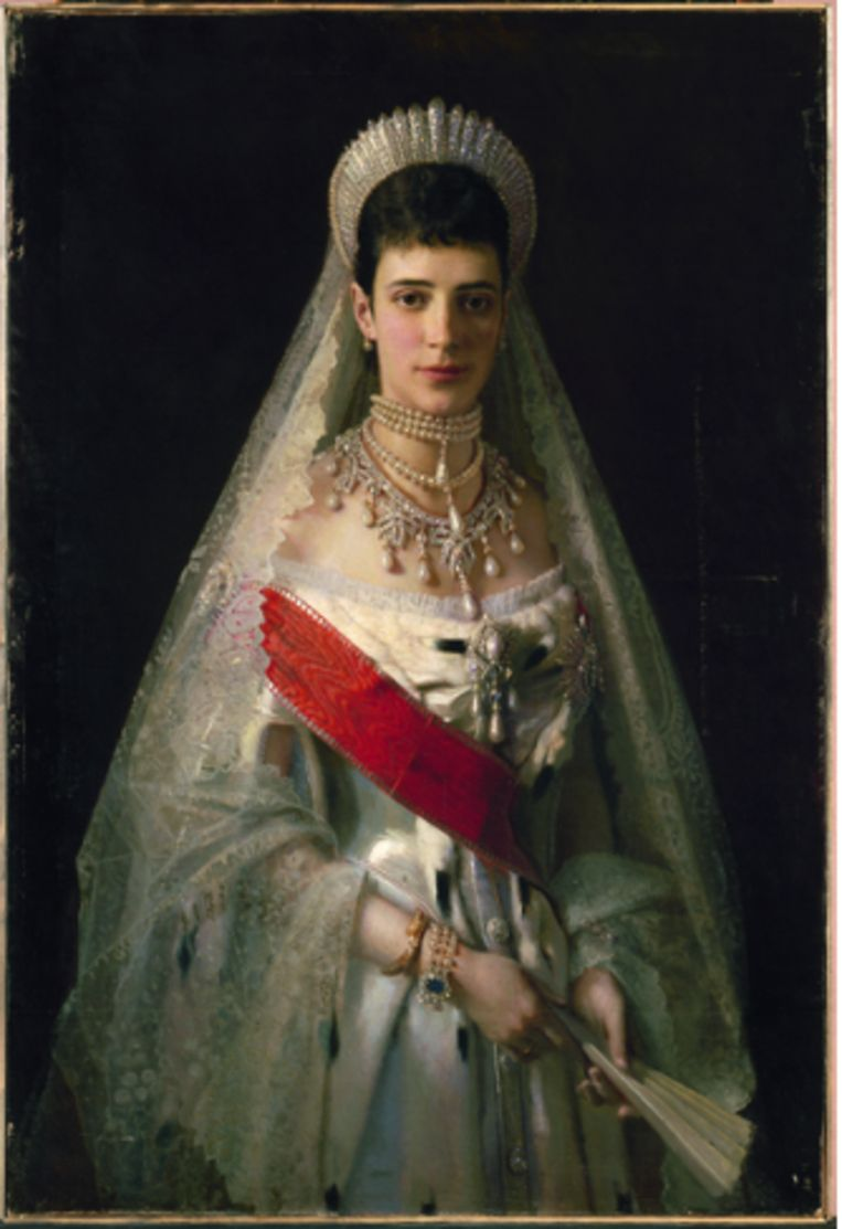 Ivan Kramskoj, portret van Maria Fjodorovna (1881). Beeld