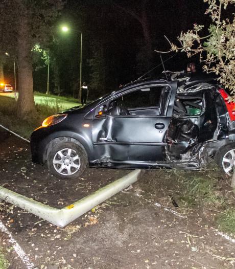 Beschonken automobilist rijdt tegen boom in Nijkerk