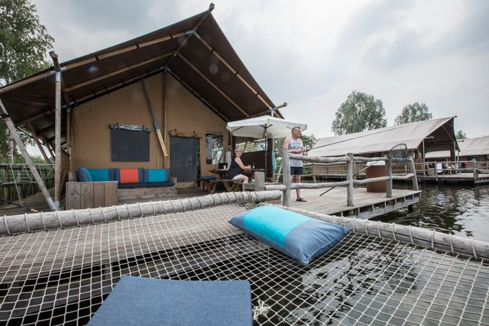 Camping Ter Spegelt gaat zich in de toekomst nog meer richten op de korte outdoorvakanties, met bijvoorbeeld de verhuur van luxe lodges (archieffoto).