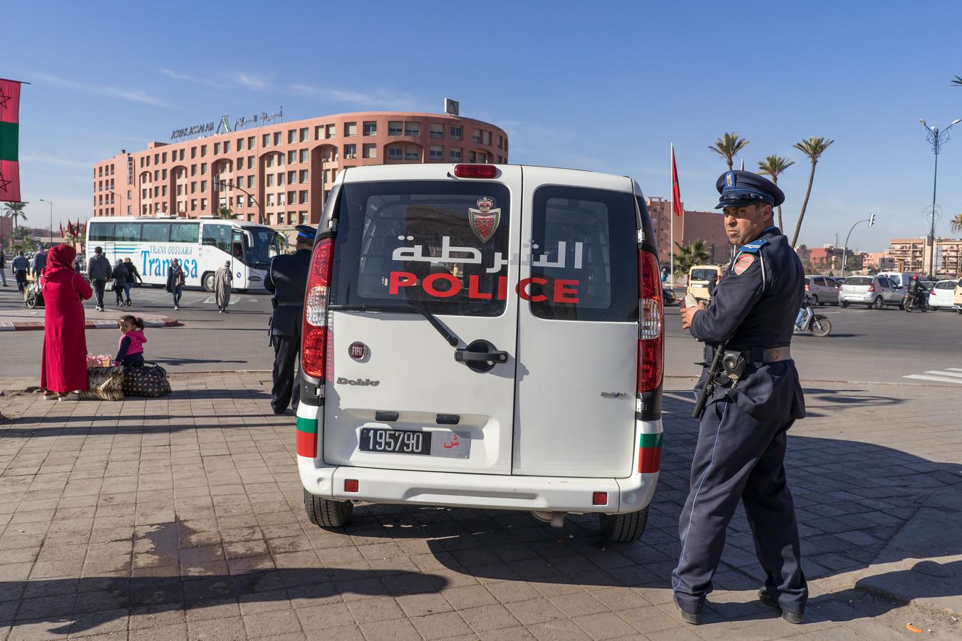 Politie in Marrakech. Beeld ter illustratie.