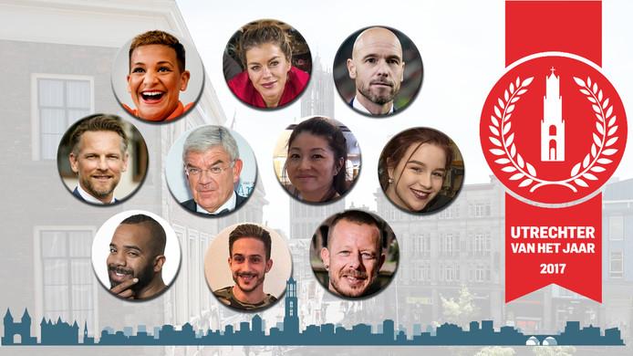 De kandidaten voor Utrechter van het jaar