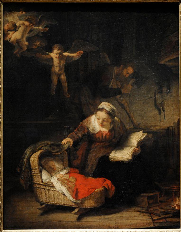 Rembrandt van Rijn, De heilige familie met engelen (1645). Beeld Album / Prisma