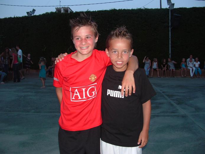 Yarick Dorst (links) en Valentijn van Keulen, beste vrienden.