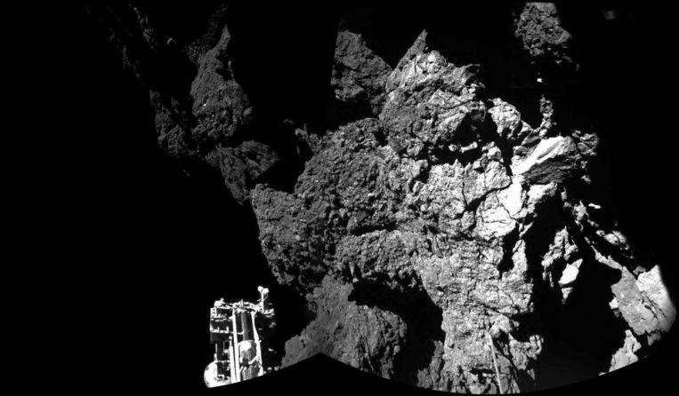 Philae landt op de komeet. Beeld anp