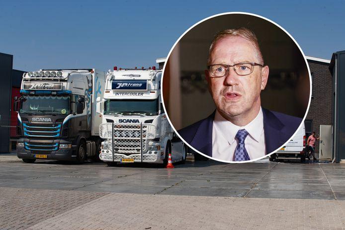 JP Trans Urk aan Het Scheer op Urk ligt onder vuur, net als wethouder Post.