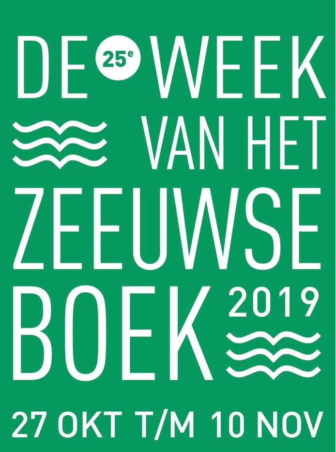 voor Jan van Damme, logo Week van het Zeeuwse boek