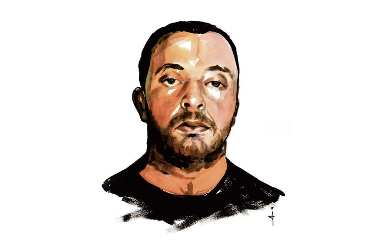 Ridouan Taghi, hoofdverdachte in het Marengo-proces. Beeld Sjoukje Bierma