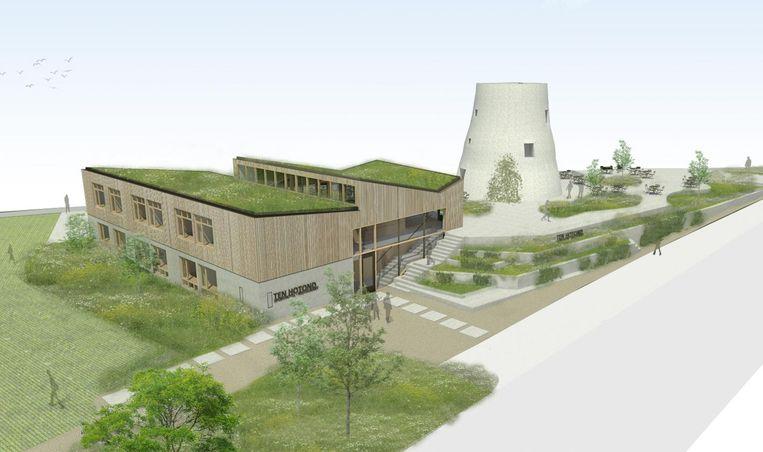 Deze simulatie van Vandriessche Architecten toont hoe de site eruit zal zien.
