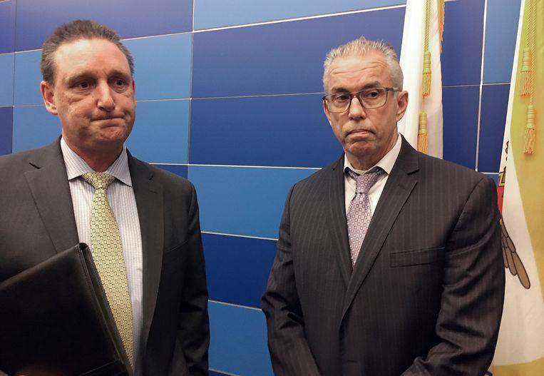 Politiecommissaris Greg McEachern (links) en inspecteur Dan Cunningham van de afdeling cold cases.