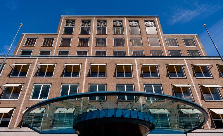 Het hoofdkantoor van Shell in Den Haag. Met alle uitbreidingen van de afgelopen 100 jaar is het complex een stadje geworden in de wijk Benoordenhout.  Beeld ANP