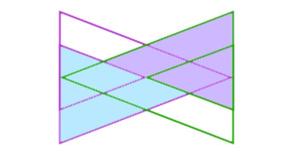 Twee grote driehoeken.
