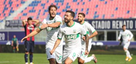 Sassuolo tweede in Serie A na spectaculaire zege in Bologna