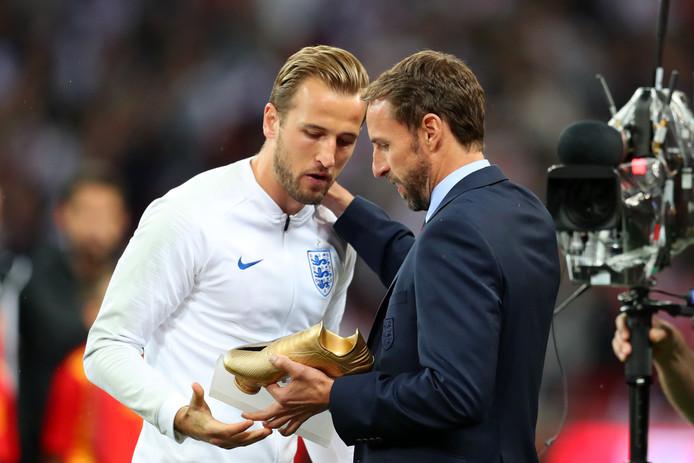 Harry Kane en Gareth Southgate.