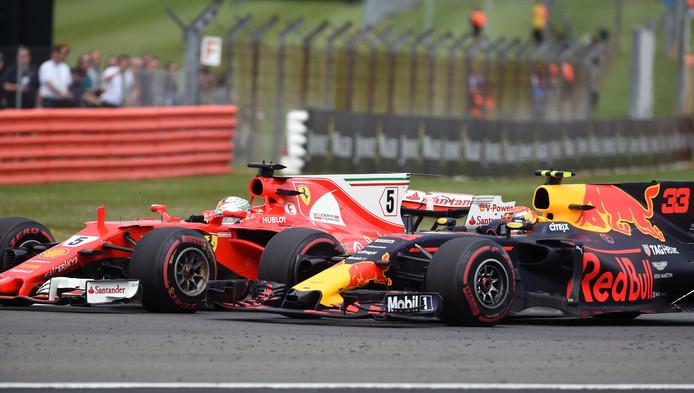 Verstappen haalde Vettel in bij de start