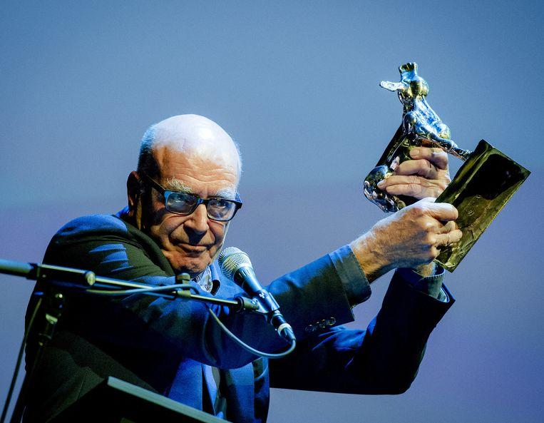 Producent Burny Bos ontving vorige week op de openingsavond van het Nederland Film Festival al het Gouden Kalf voor de Cultuur. Beeld anp