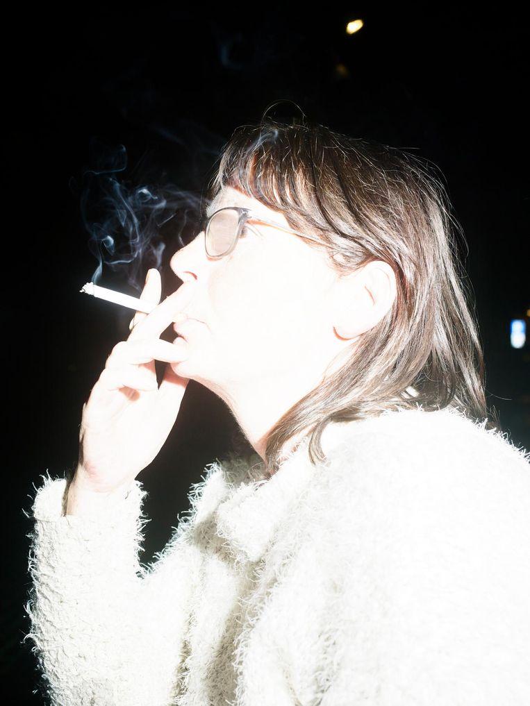 Roker bij de bijeenkomst Ik stop ermee in Uden. Beeld Raimond Wouda