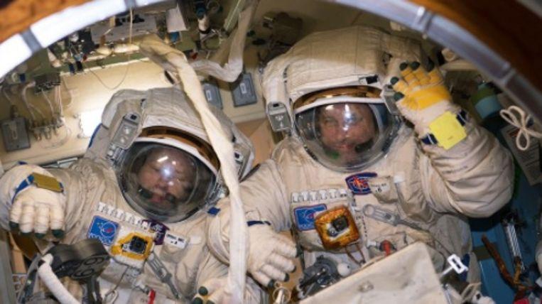 Commandant Alexander Misurkin en vluchtingenieur Anton Shkaplerov.