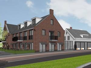 Impressie van de nieuwbouw naast de Bolle Buiken in Wernhout