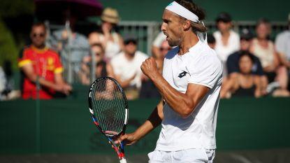 Bemelmans zorgt voor verrassing op Wimbledon: 30-jarige Limburger schakelt Amerikaan Johnson na felbevochten vijfsetter