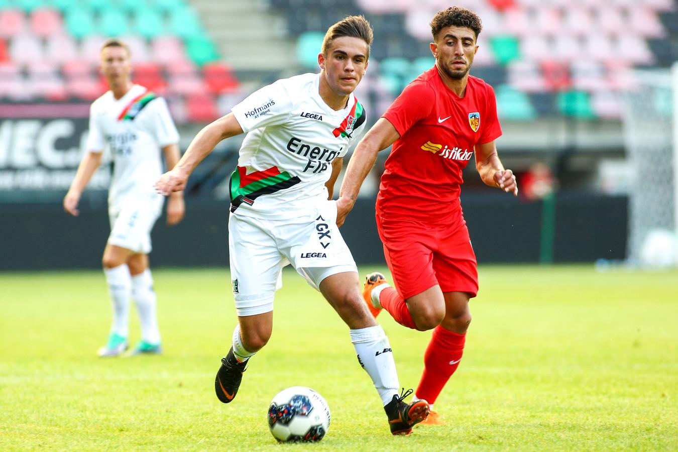 Bilal Basaçikoglu op 24 juli 2018 tijdens een vriendschappelijk duel tussen NEC en Kayserispor.