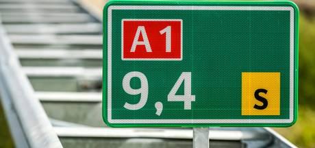 A1 dicht richting Amsterdam