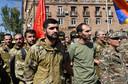 Armeense vrijwilligers melden zich om naar de betwiste regio te gaan.