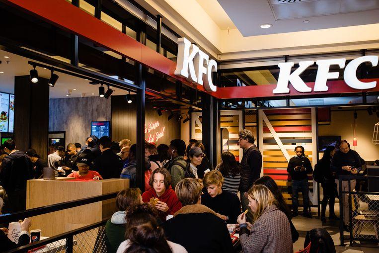 Iets na de middag was het toch erg druk in KFC