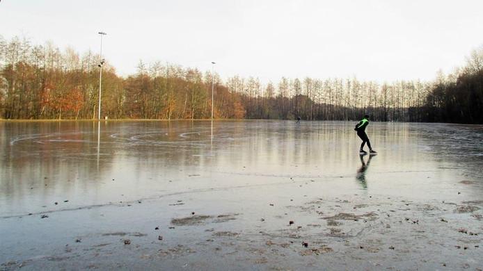 Nico Schouten ging het ijs op in Drunen.