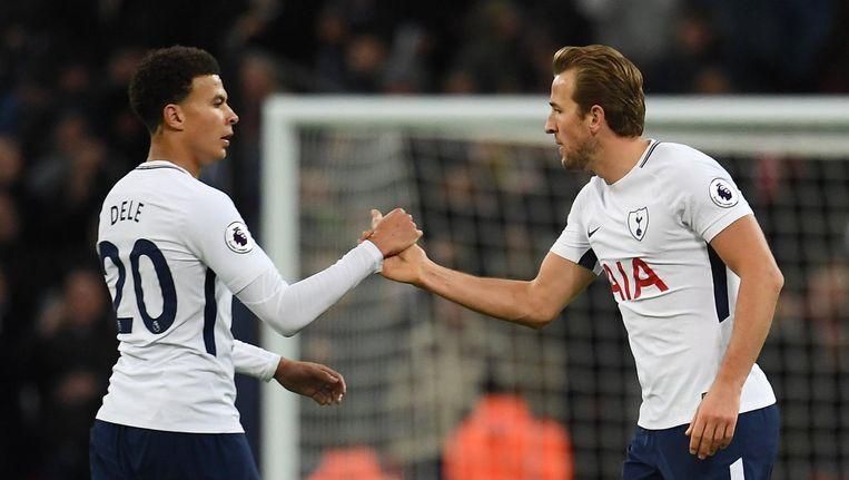 Dele Alli en Harry Kane, twee sleutelspelers van Tottenham Hotspur. Beeld anp