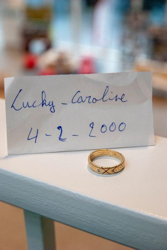 Deze ring werd vorige week gevonden ergens in Brasschaat.