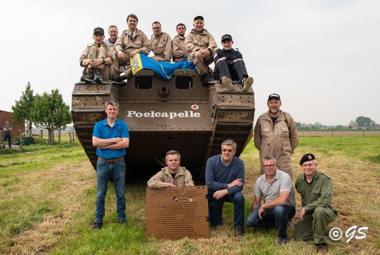 Het tankcomité van 'De Tank van Poelkapelle'