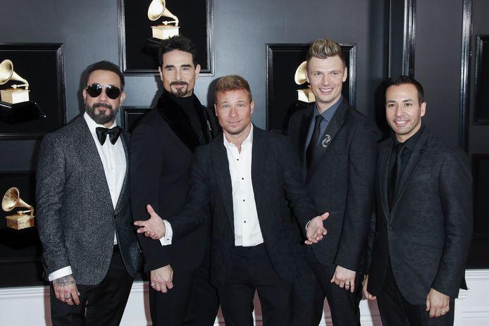 AJ McLean, Kevin Richardson, Brian Littrell, Nick Carter en Howie Dorough van The Backstreet Boys.
