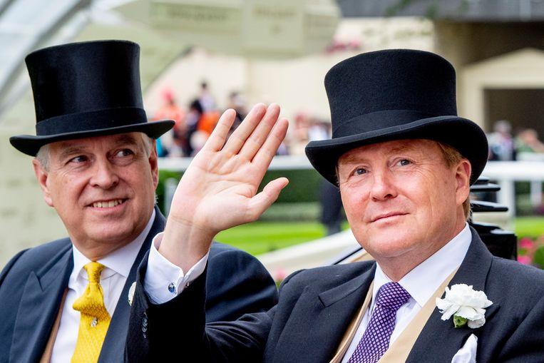 Prins Andrew en Koning Willem-Alexander. Beeld DPA