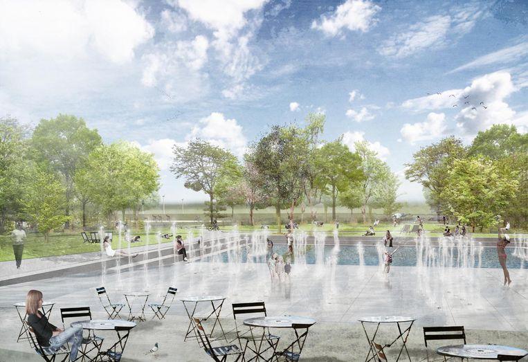 Het bureau Omgeving maakte een ontwerp voor het nieuwe Zomerhuis met onder meer een waterspeeltuin.