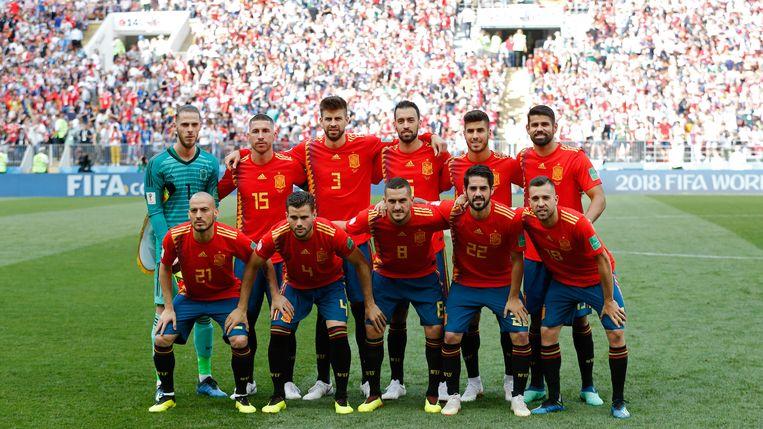 De Spanjaarden zijn de sportiefste ploeg van het toernooi. Beeld getty