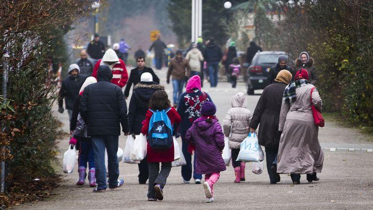 De opvanglocatie van asielzoekers in het Drentse Oranje. Beeld anp