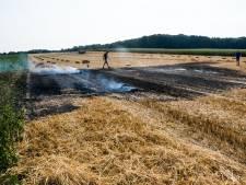 Uitgeklopte pijp veroorzaakt brand op Groesbeeks weiland