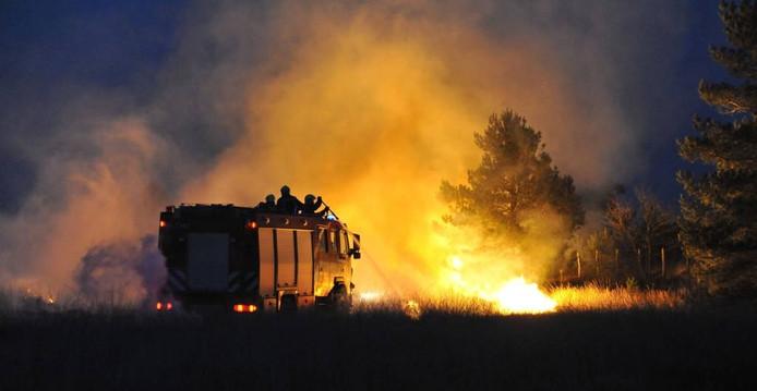 Heidebrand bij Hoog-Soeren.